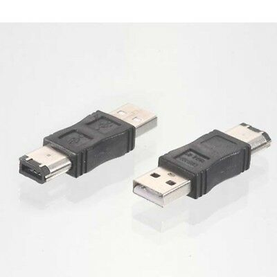 NEW Firewire IEEE 1394 6 Pin to USB 2.0 Male Adaptor Convertor  1PCS