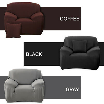 Pure Color Removable Stretch Sofa Slipcover Couch Pillow Cover For L-Shape Sofa