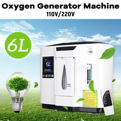 6L Portable Medical Use Oxygen Air Generator Timing Air Concentrator 0~6L/min