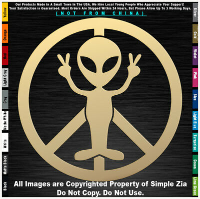 aliens spaceship cow UFO Roswell Space area 51 sticker decal
