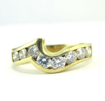 18ct Yellow Gold 0.54 Carat Diamond Channel Ring with $2,340 Valuation, Size J