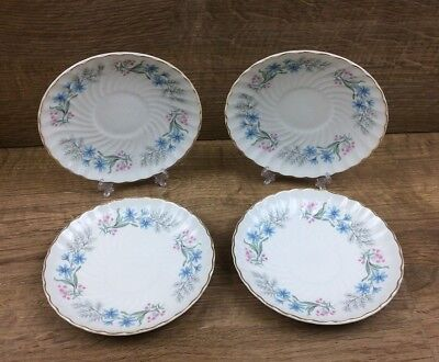 """4 x Royal Wessex White Ironstone By Swinnertons 5 3/4"""" Saucers"""