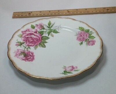 Royal Standard Orleans Rose Fine Bone China 8'' Plate Gold Rim