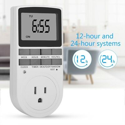 Digital Timer Switch Automation Socket Electric Programmable Power AU EU US UK