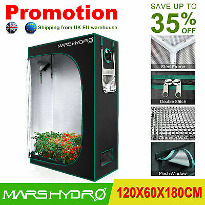60x120x180cm Indoor Grow Tent Kit Plant Room Reflective Mylar Hydro Hut Home Box