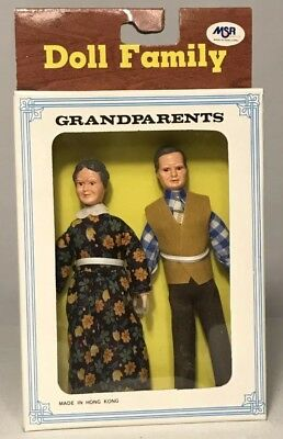 Vintage dollhouse Doll Family Grandparents New In Box Fast Free Shipping Creepy