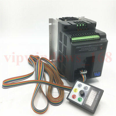 380V 5.5KW Variable Frequency VFD Drive Inverter 500HZ 12.6A&Panel Control Cable