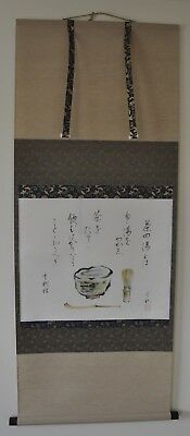 """Japanese Hanging Scroll """"What is Chanoyu"""" - excellent condition"""