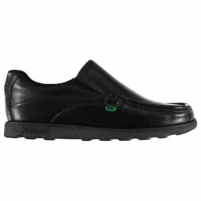 Kickers Fragma Slip On Shoes Mens Gents Padded Ankle Collar Moc Toe Leather