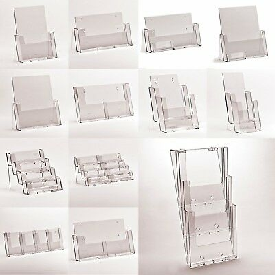 Multi Pocket Leaflet Holders Menu Holder Flyer Tier Display Stands A4 A5 DL A6