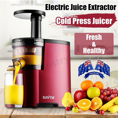 Cold Press Electric Juice Juicer Fruit Vegetable Processor Extractor Mixer AU