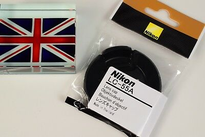 100% GENUINE ORIGINAL NIKON LC-55A 55mm PINCH TYPE LENS CAP UK SUPPLIER NEW!