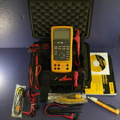 Fluke 725 Multifunction Process Calibrator, Excellent, Hard Case, Accessories