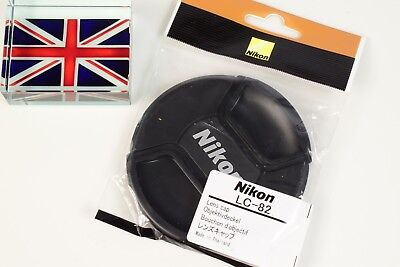 NEW IN BAG GENUINE ORIGINAL NIKON LC-82 82mm PINCH TYPE LENS CAP UK SUPPLIER