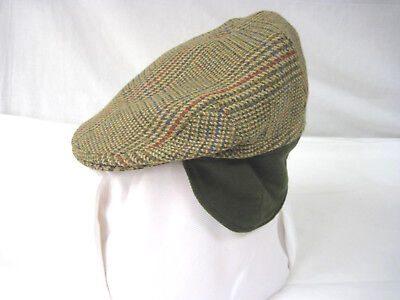 a0d228a9ee8 ORVIS PLAID IRISH Golf Driving Newsboy Ivy Cabbie Cap Hat Size 7 ...
