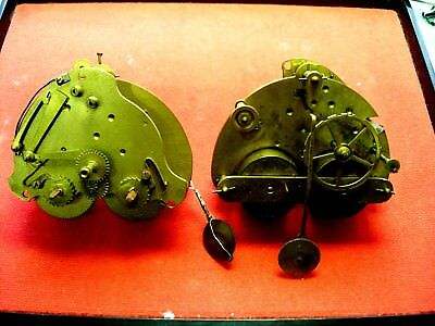 Lot 2 Mouvement pendule clock paris antique Uhr pendulum regulator pendel