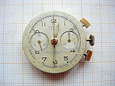 Lemania 1277 movement 870 chronograph Chronographe compteur Watch recording