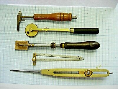 Lot ancien outils horloger Watch set Tools jewelling compas tool quality vintage