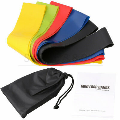 5PCS Resistance Loop Bands Exercise Yoga Bands Workout Fitness Training Strength