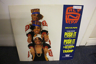 "12"" Vinyl, Salt-N-Pepa, Push It (Full, Club & Uk Re-Mix) Rare, Pop, Exc Cond"