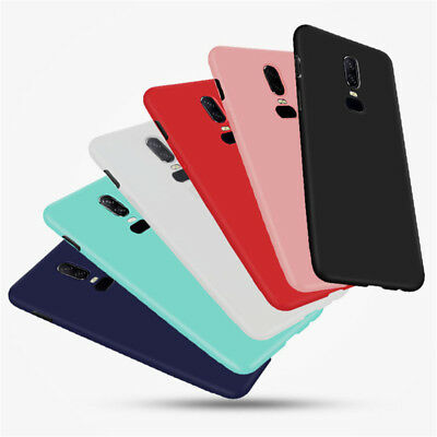 Silicone Rubber Shockproof Frosted Soft TPU Cover Case For OnePlus 5 5T 6T 7 Pro