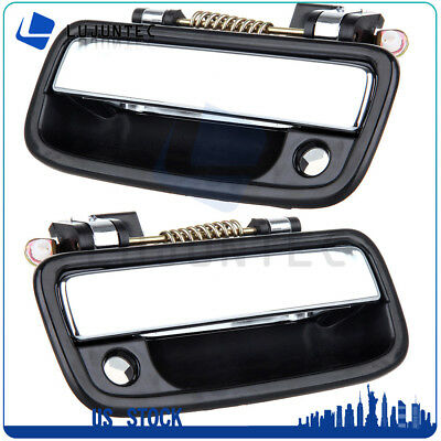 Set of 2 Chrome Exterior Outside Outer Front Door Handle For 95-04 Toyota Tacoma