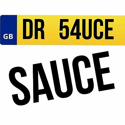 DR54 UCE Private Car Registration Plate Number cherished personalised DR SAUCE