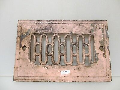 """Antique Iron Air Vent Grate Grille Ornate Gilt Vintage Old  11.25"""" by 7.5"""""""