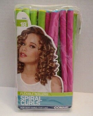 Conair Flexible Rollers for Spiral Curls 18 Pieces New in Package 2014