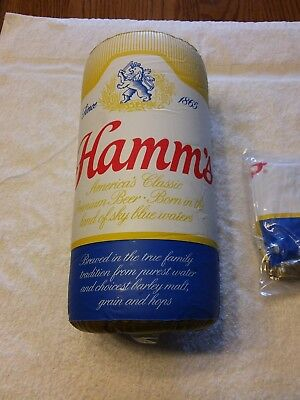 """Hamms Beer Hanging Inflatable Beer Can. 12"""" Tall Nos. Sealed."""