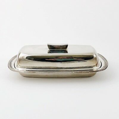 Silver Butter Dish Vintage FB Rogers Company Plated Butter Cover 1996 Holidays