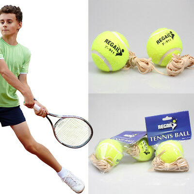 Tennis Ball With Elastic Rubber Rope Beginners TrainerSingle Train Tool