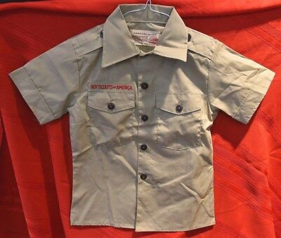 Boy Scout Short Sleeve Official Shirt Size 8 Neck Size 12