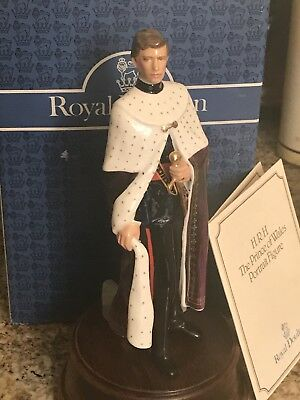 """PRINCE OF WALES HN 2883 Royal Doulton 8"""" NEW IN BOX ALL PAPERS by Eric Griffiths"""