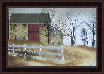THE OLD STONE BARN by Billy Jacobs 15x21 FRAMED PRINT Farm House PICTURE HCD