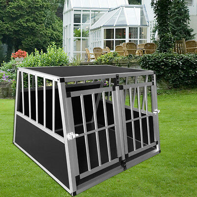 Aluminium Cage Kennel Transport Box Travel Crate Hunch For Pet Dog Cat Puppy Pup