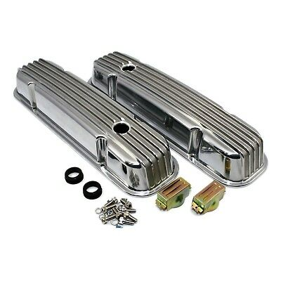 Aluminum Valve Covers Polished Retro Finned – Pontiac 326 350 389 400 421 455 V8