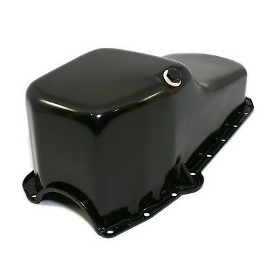 Stock Capacity Oil Pan Black Painted 58-79 SBC Small Block Chevy 327 350 400