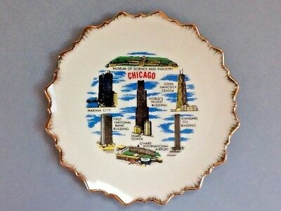 A Nice Decorative Porcelain Chicago, Illinois State Collector Plate