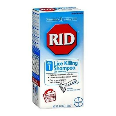 RID Lice Killing Shampoo Step 1 4 OZ (2 Packs)