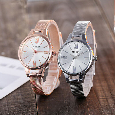 Fashion Womens Stainless Steel Wrist Watch Ladies Casual Analog Quartz Watches