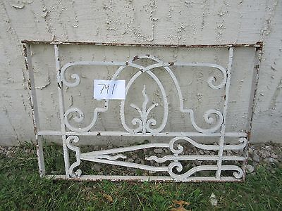 Antique Victorian Iron Gate Window Garden Fence Architectural Salvage #741