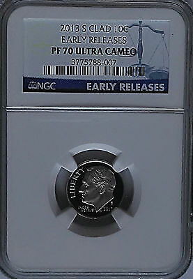 NGC PF70 Early Releases 2013-S PROOF Clad ROOSEVELT Dime REGISTRY Perfect*USA*PR