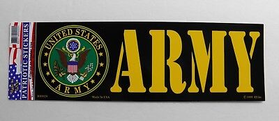US Army Bumper Sticker made in USA 9 x 3.25 inches
