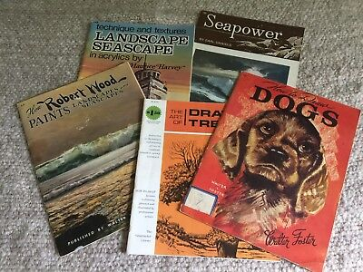 Lot Of 5 Vintage Art Instruction Books Most Published By Walter T