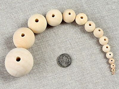 Craft Jeweley Natural Untreated Wood Round Beads Spacer 6mm-28mm Wholesales Bulk