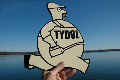 Old Style Tydol Motor Oil Veedol Flying A Diecut Flange Sign Usa Made 40% Off!