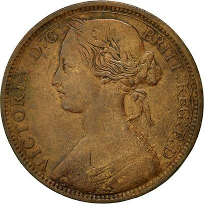 [#433066] Coin, Great Britain, Victoria, Penny, 1862, VF(30-35), Bronze