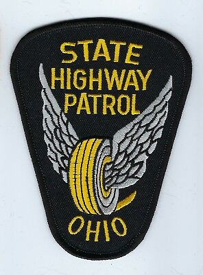 Ohio OH State Highway Patrol patch - NEW! *Winged Wheels*