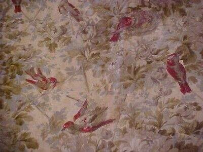 Vintage Bedspread, Brown With Birds, As Is